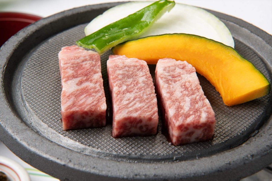 Authentic Japanese beef steak